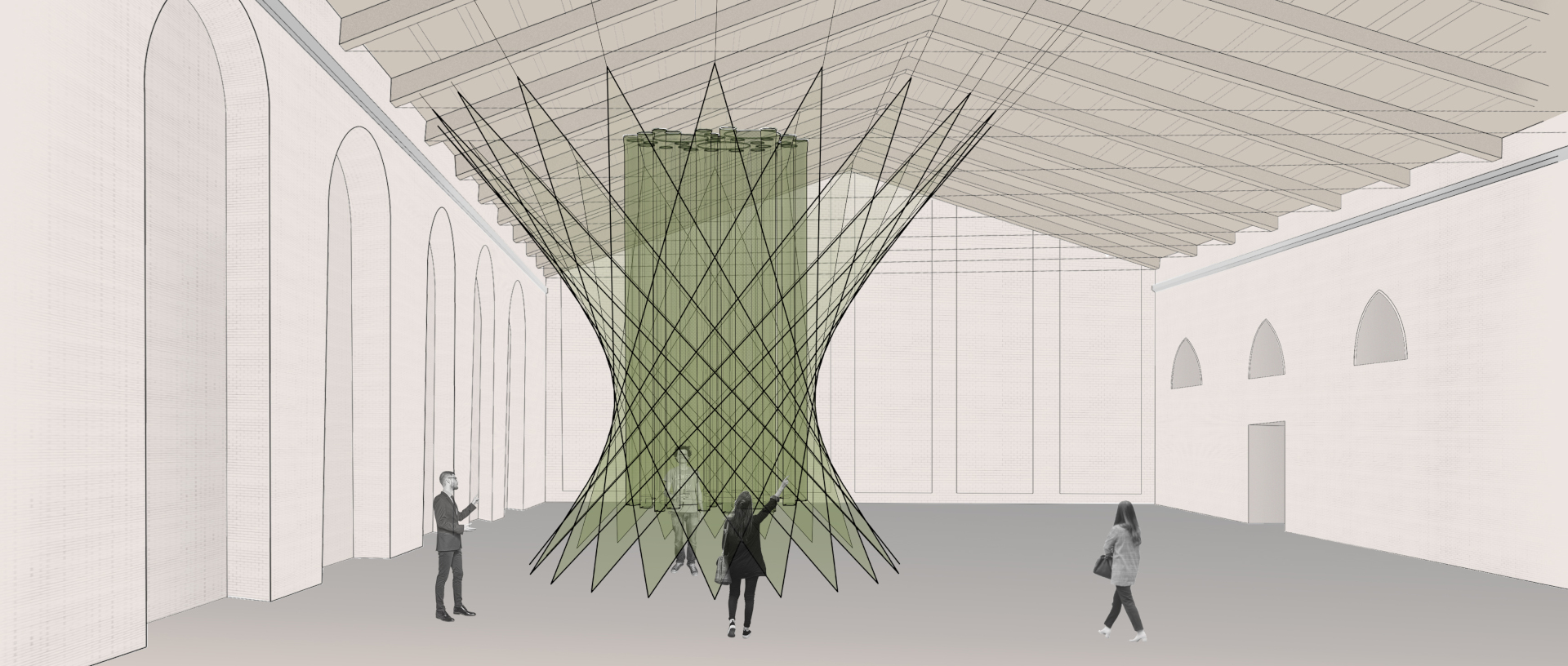 Concept sketch of the installation