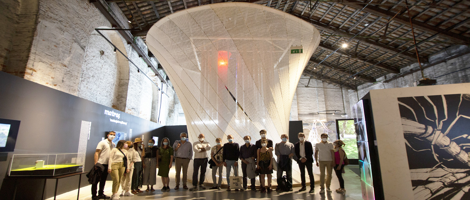 The research group before the installation